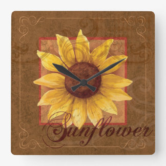 Sunflower Art Wall clock