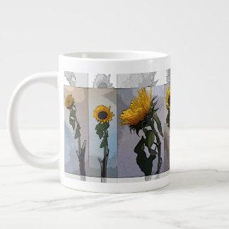 Sunflower Artistic Elegant Nostalgic Trendy Large Coffee Mug