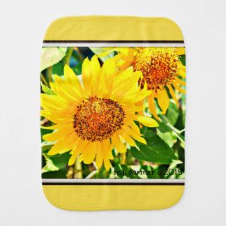 Sunflower Baby Burp Cloth