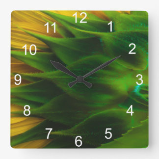 Sunflower Back Wall Clock