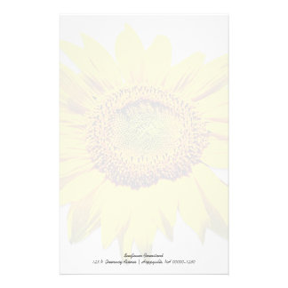 Sunflower Background Blank Custom Note Paper