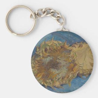 Sunflower background key ring