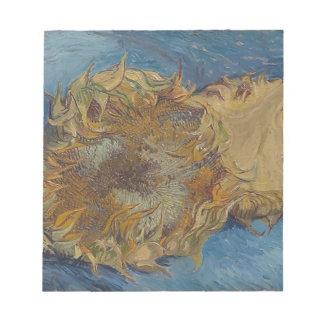 Sunflower background notepad