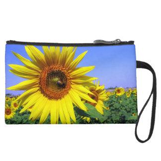 Sunflower Wristlet Clutches