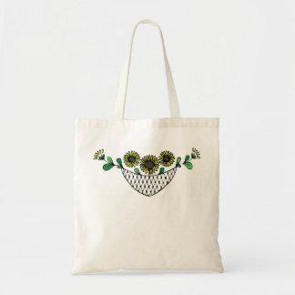 Sunflower bag - floral design tote