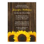 Sunflower Barn Wood Bridal Shower 13 Cm X 18 Cm Invitation Card