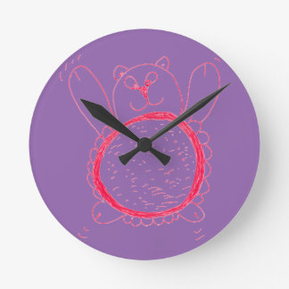 Sunflower Bear Wall Clock