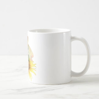 """Sunflower"" Beautiful Flower Fairy by Scot Howden Coffee Mugs"
