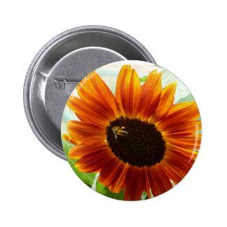 Sunflower bee button