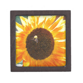 Sunflower Bee Premium Trinket Boxes