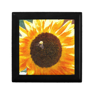 Sunflower Bee Small Square Gift Box