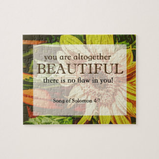 Sunflower & Bible Verse Design Jigsaw Puzzle