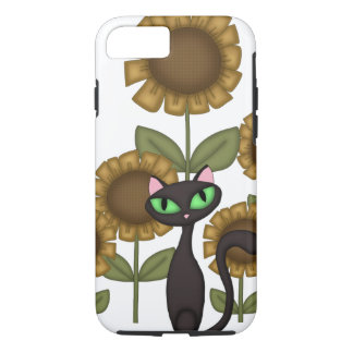 Sunflower Black Cat iPhone 8/7 Case