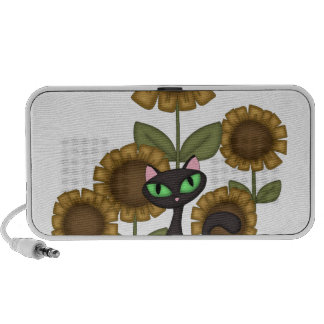 Sunflower Black Cat iPod Speaker