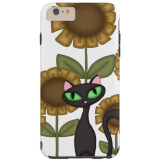 Sunflower Black Cat Tough iPhone 6 Plus Case