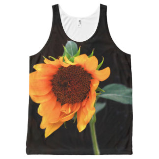 Sunflower bloom All-Over print singlet