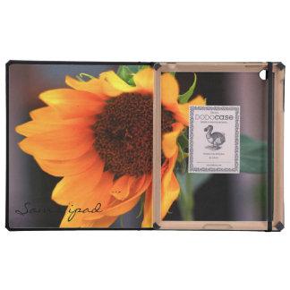 Sunflower bloom iPad folio cover