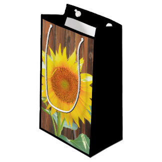 Sunflower bloom gift bag