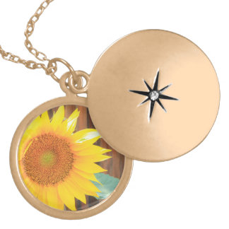Sunflower Bloom Gold Plated Necklace