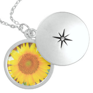 Sunflower Bloom Locket Necklace