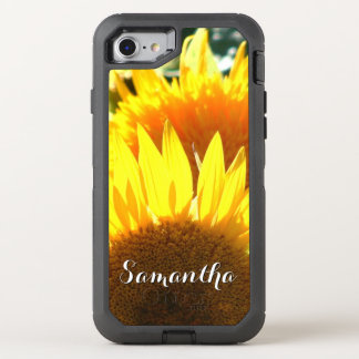 Sunflower bloom Otterbox phone OtterBox Defender iPhone 8/7 Case