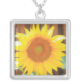 Sunflower Bloom Silver Plated Necklace