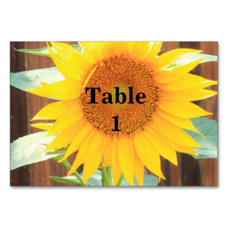Sunflower Bloom table card