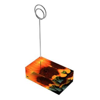 Sunflower bloom table card holders