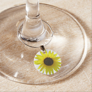 Sunflower Bloom Wine Charm