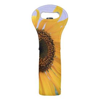 Sunflower bloom wine tote