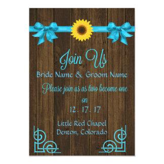 Sunflower Blue Invitation