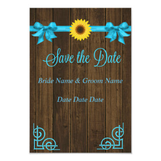 Sunflower Blue Save the Date Card