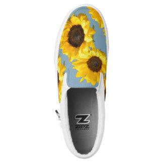 Sunflower Blue Skies Slip On Sneaker Shoe Printed Shoes