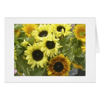 Sunflower Bouquet Card