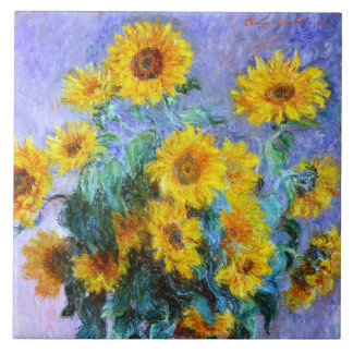 Sunflower Bouquet Large Square Tile