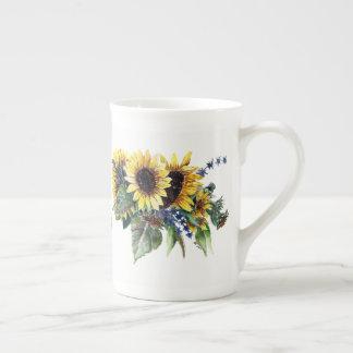 Sunflower Bouquet Tea Cup