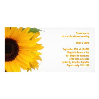 Sunflower Bridal Shower Photo Card