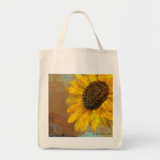 Sunflower Burst Tote Grocery Tote Bag