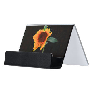 Sunflower business card holder desk business card holder