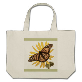 Sunflower Butterfly Tote Bag