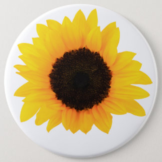 Sunflower Button, colossal button, Round Button