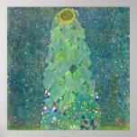 Sunflower by Klimt, Vintage Flowers Art Nouveau Print