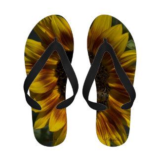 """Sunflower"" by mysteryella Sandals"