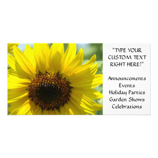 SUNFLOWER CARDS Announcements Events Parties Photo Card Template