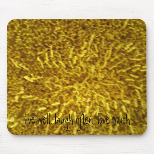 Sunflower Center Mouse Pads