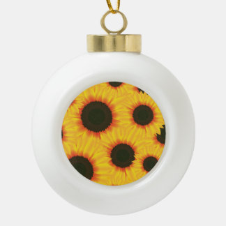 Sunflower Ceramic Ball Decoration