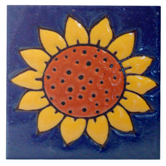 Sunflower Ceramic Photo Tile