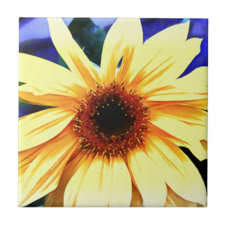 "Sunflower Ceramic Tile Small (4.25"" x 4.25"")"