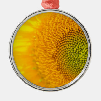 Sunflower Close Up Photgraph Metal Ornament