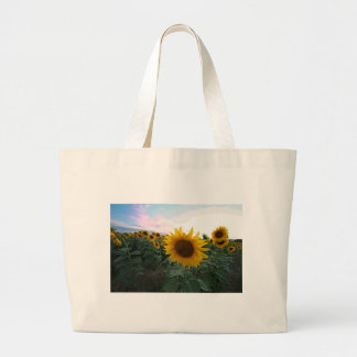 Sunflower Closeup Large Tote Bag